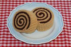 Crochet Pattern for Cinnamon Rolls / Pastries - Play Food, Toy Food Food Patterns, Crochet Toys Patterns, Amigurumi Patterns, Stuffed Toys Patterns, Crochet Food, Love Crochet, Knit Crochet, Crochet Cupcake, Basic Crochet Stitches