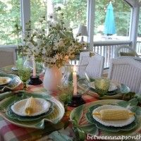 A Country Style Tablescape With Corn on the Cob