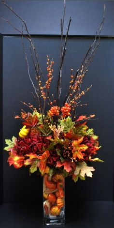 foliage arrangements | Moore Fall 2012 Floral: Fall Foliage Arrangement | Moore: Floral