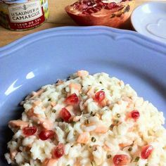 Idee per Capodanno: risotto melograno e salmone Raw Food Recipes, Meat Recipes, Appetizer Recipes, Healthy Recipes, Healthy Food, Risotto Recipes, Rice Soup, Appetisers, I Love Food