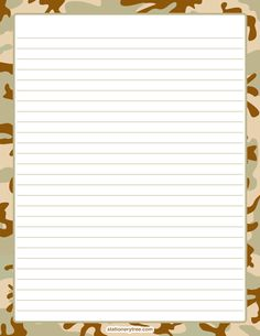 Camouflage Stationery and Writing Paper