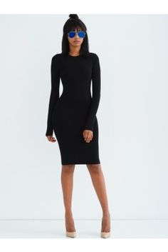 So easy to style this. Every Girl Need a black dress. Pinterest: ::: ❤️Bitahsweetcoco❤️ ::::  Skin Tight Black