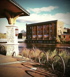 Downtown Eau Claire has the most beautiful river walk area with flowers and sculpture that frames the natural beauty of the Chippewa River that runs through it.