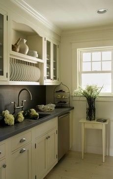 Zinc counter and backsplash custom built by MetalWorks in Tiverton, RI.... same surface they used in the Newport Mansions/ Cottages in their pantry's.