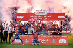 Crystal Palace Team Celebrate Winning The Football League Championship Play-Off Final 2013