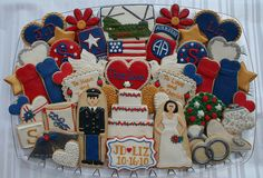 OMG, Military Wedding Cookies.. I have NEver seen anyone do this.. LOVE it..