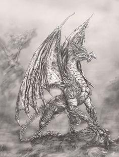 Dragon concept by Willhorn.deviantart.com on @DeviantArt