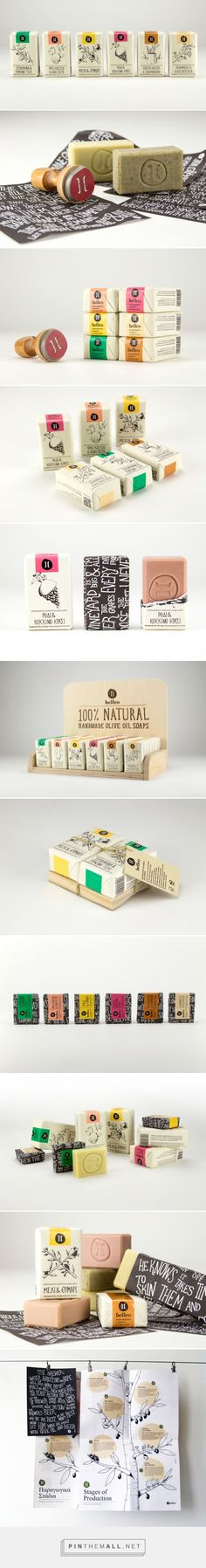 Packaging Design for 'Helleo' Natural Soaps