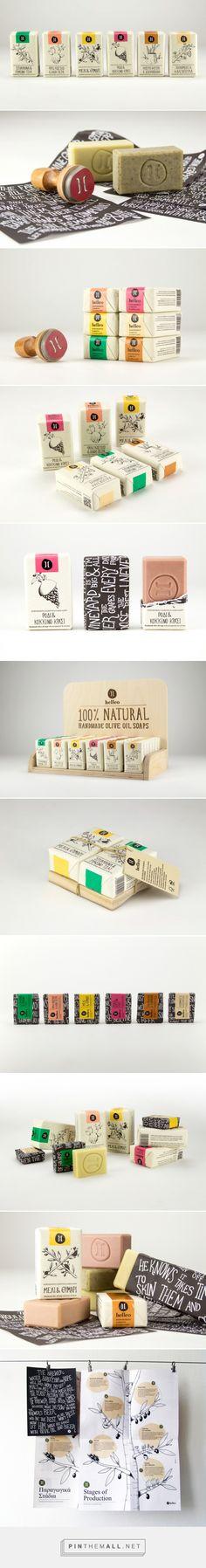 Packaging Design for \'Helleo\' Natural Soaps