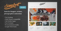 Download and review of Simplart - Responsive WordPress Blog Theme, one of the best Themeforest Magazine & Blogs themes {Download & review at|Review and download at} {|-> }http://best-wordpress-theme.net/simplart-responsive-download-review/
