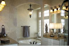 Tub in an alcove