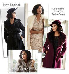 Jacques Vert Detachable Faux Fur Collar Coats