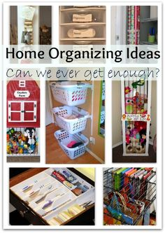 home organizing ideas - boy can I use these!