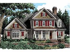 Fantastic Farmhouse House Plans #HWBDO15149 - I really like the layout (esp. master and laundry on the main floor).