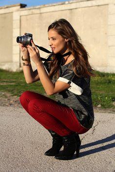 Coloured skinny jeans by @LadyAddict_ Me encanta su rollo! (protagonista de http://www.mitele.es/programas-tv/tendencias/temporada-2/programa-2/ en @miteleonline )