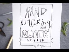 Hi Guys! This is my first tutorial video and it's all about hand lettering! In the video I show you two different lettering styles with lots of examples. For...