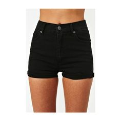 Shorts ❤ liked on Polyvore featuring shorts, hot short shorts, high rise shorts, high waisted shorts, cut off short shorts and high-waisted shorts