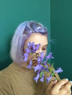 """pale-afternoon: """"Purple hair """""""