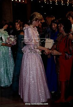 April 14, 1983: Princess Diana attends the Royal Gala Concert, Melbourne Concert Hall