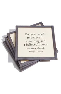 Ben's Garden 'Everyone Needs To Believe' Coaster Set available at #Nordstrom