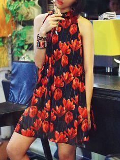 Aporia. AS Floral-print Chiffon Mini Dress