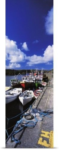 The Irish Image Collection Poster Print Wall Art Print entitled Bunbeg, Donegal, Ireland, Harbour Of A Townland, None