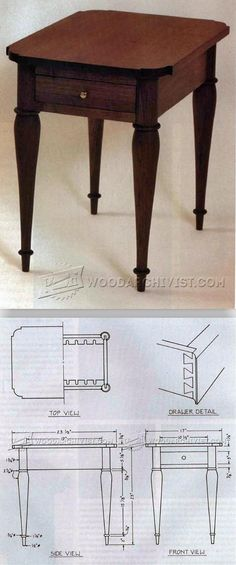 Sheraton Side Table Plans - Furniture Plans and Projects | WoodArchivist.com