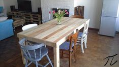 DIY Pallet Dining Table | Pallet Furniture DIY
