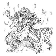 regram @toddulrichillustration Dragonborn druid. #dragon #dragonborn #dnd #game #gameart #gaming #conceptart #concept #art #character #design #tabletopgaming #fantasy #scifi #fantasyart #sketch #sketchbook #doodle #drawing #draw #work #practice #pic #photo #artist #tiger #animal #photoshop