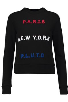 Shop on-sale Etre Cecile Paris New York Pluto flocked cotton sweatshirt. Browse other discount designer Tops & more on The Most Fashionable Fashion Outlet, THE OUTNET.COM