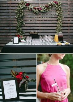 Perfect setup for a water station at the ceremony