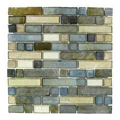 Illusion Glass Tile - Desert Mirage - Glass Mosaic Tile in Sagebrush -$17.28 sale