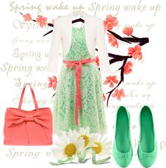"""""""spring has sprung"""" by arkgirl ❤ liked on Polyvore"""