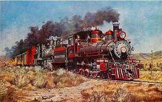 Reno Nevada NV 1950s Virginia Truckee Railroad Train Antique Vintage Postcard…