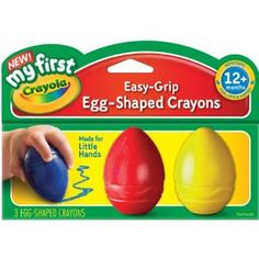 Amazon.com: Crayola My First Crayola Scribbled Egg Crayons: Toys & Games