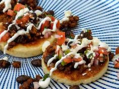 Buttery Arepas with Mexican Chorizo, Black Beans & Crema