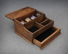 Watch Box, Men's Watch Box, Watch Box for Men, Wood Watch Box, Watch Display, Personalized Gift, Custom Watch Box for 4 Watches with drawer