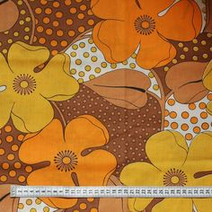 Seventies vintage fabric by FrauSvensson on Etsy, $10.00