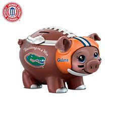 Shop The Bradford Exchange Online for Banking On A Win University Of Florida Football Piggy Bank. Florida Gators® fans, are you ready for the pig game? You can always bank on a win when you bring home this first-ever University of Florida® piggy bank. University Of Florida Football, Florida Gators Football, Ohio State Football, Ohio State University, Ohio State Buckeyes, Football Fans, Football Season, Ohio Stadium, Bradford Exchange