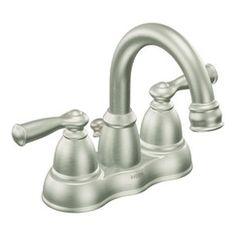 Moen banbury spot resist brushed nickel two-handle high arc bathroom faucet - CA84913SRN