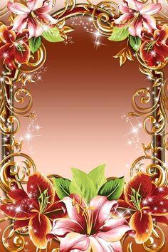 Photo Frames For Kids, Family Picture Frames, Birthday Photo Frame, Birthday Frames, New Background Images, Frame Background, Rose Frame, Flower Frame, Framed Wallpaper