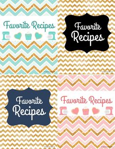 How to Make a Recipe Binder with Free DIY Recipe Binder Printables - Organize all of your favorite recipes and recipes you want to try in one cute place with these cute, pretty, and practical DIY Recipe Binder Printables in 4 different colors. Cookbook Cover Design, Recipe Book Design, Recipe Book Covers, Recipe Cover, Recipe Books, Cookbook Display, Cookbook Storage, Cookbook Ideas, Kids Cookbook