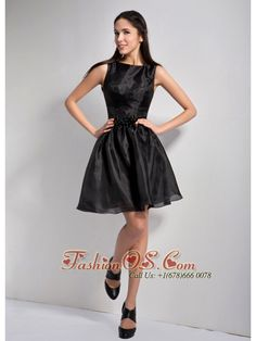 Customize Black A-line Bateau Mini-length Little Black Dress Taffeta and Organza Beading  http://www.facebook.com/quinceaneradress.fashionos.us  http://www.youtube.com/user/fashionoscom?feature=mhee   cheap plus size prom dresses | cheap prom dress under 100 | winter collection | two toned fabric prom dress | pageant dress | jazz dance dress | black organza prom dress