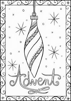 Day 1: The First Advent Wreath Candle (Purple)  Pen and Ink by Amalia Hillmann https://www.etsy.com/listing/480222164