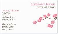 cherry blossom spring Spot Gloss Business Cards