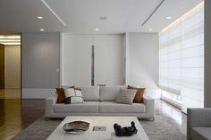 Cortina Romana em sala moderna