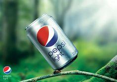 Pepsi Light Print Ad by Ahmed Mostafa, via Behance PD