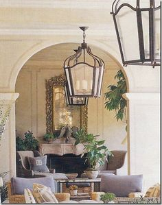 Last week, I posted on several fireplace mantels that were mentioned at a design meeting; Outdoor Living Areas, Outdoor Rooms, Living Spaces, Living Room, Southern Porches, Interior And Exterior, Interior Design, Apartment Chic, Mediterranean Decor