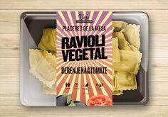 Packaging. Ravioli vegetal. Pasta joven :), marca tradicional. Proyecto packaging Vissi.