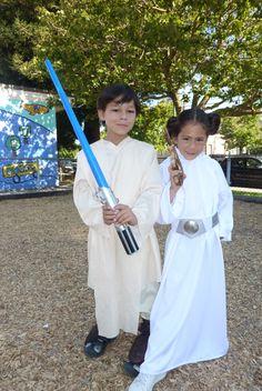 8th Halloween-Twins Luke and Leia.  ...No, Mom, I'm Obi One!